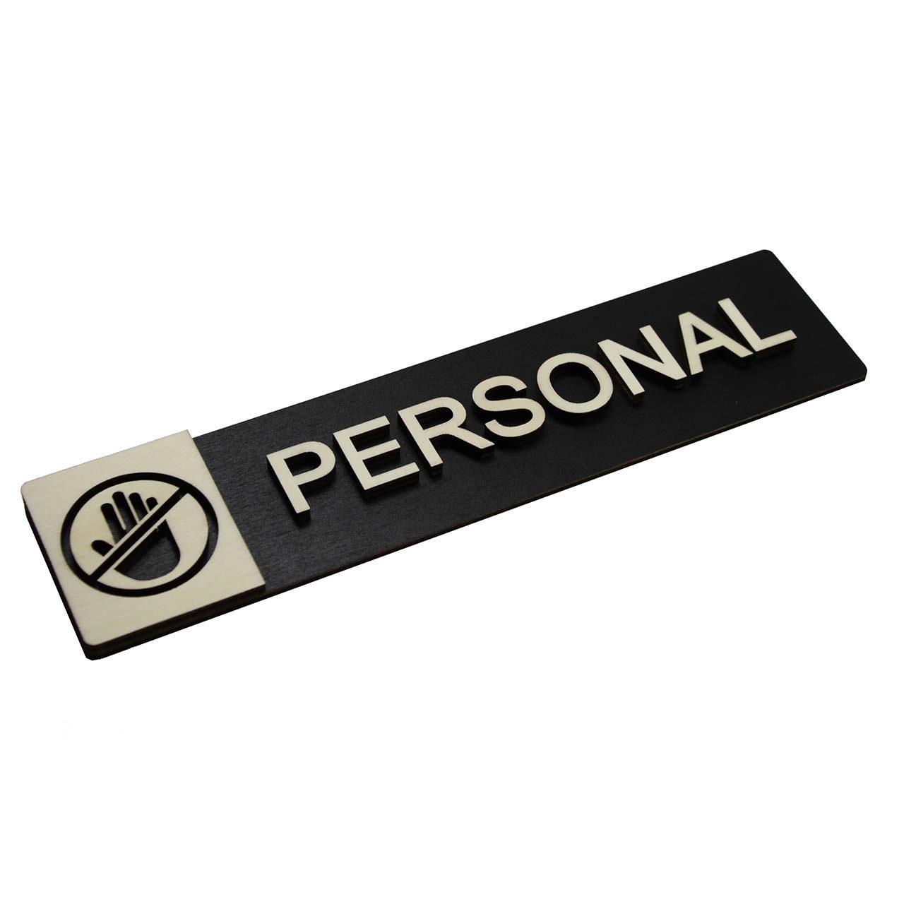 "Holz-Türschild ""Personal"""
