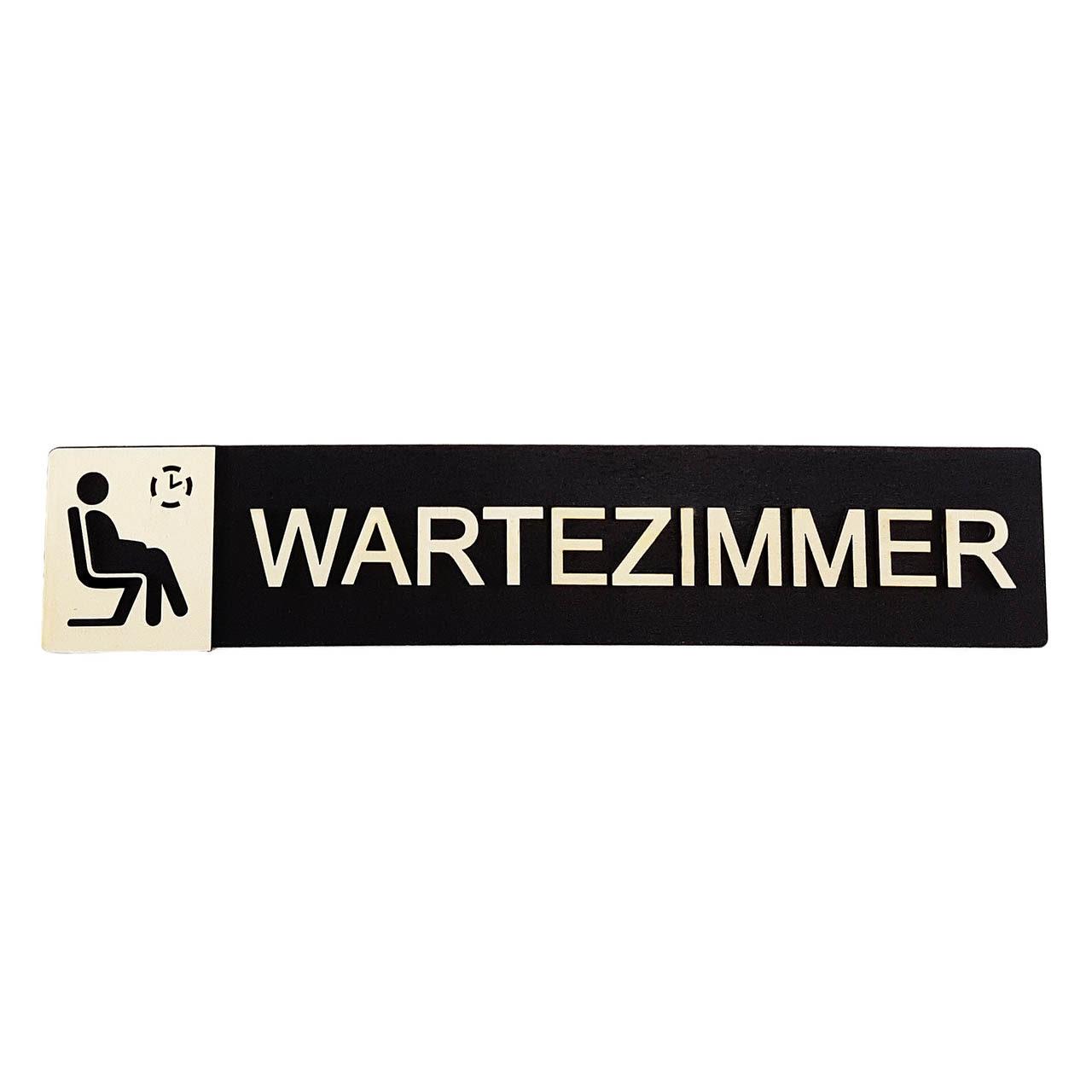 """Holz-Türschild """"Wartezimmer"""""""