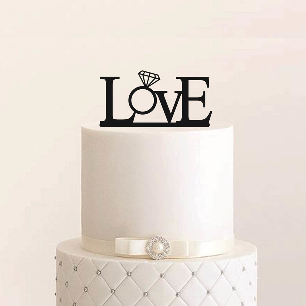 "Cake Topper ""Love Ring"""