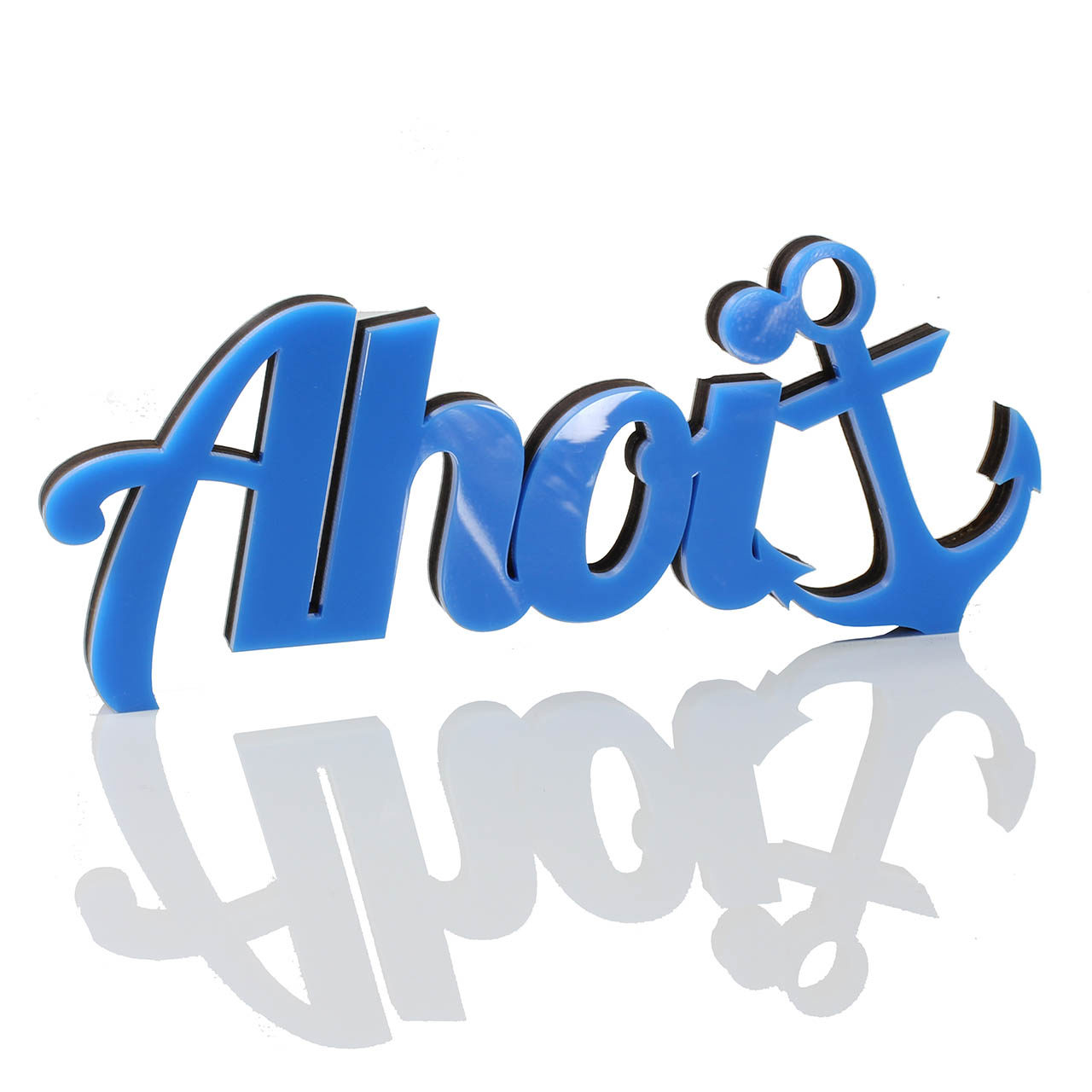 "3D Schriftzug aus Acryl ""Ahoi"""