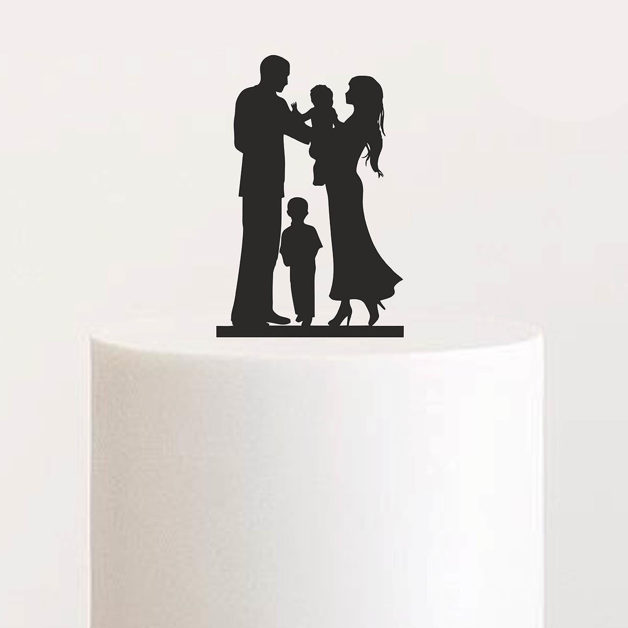 """Cake Topper """"Eltern mit zwei Kinder"""""""