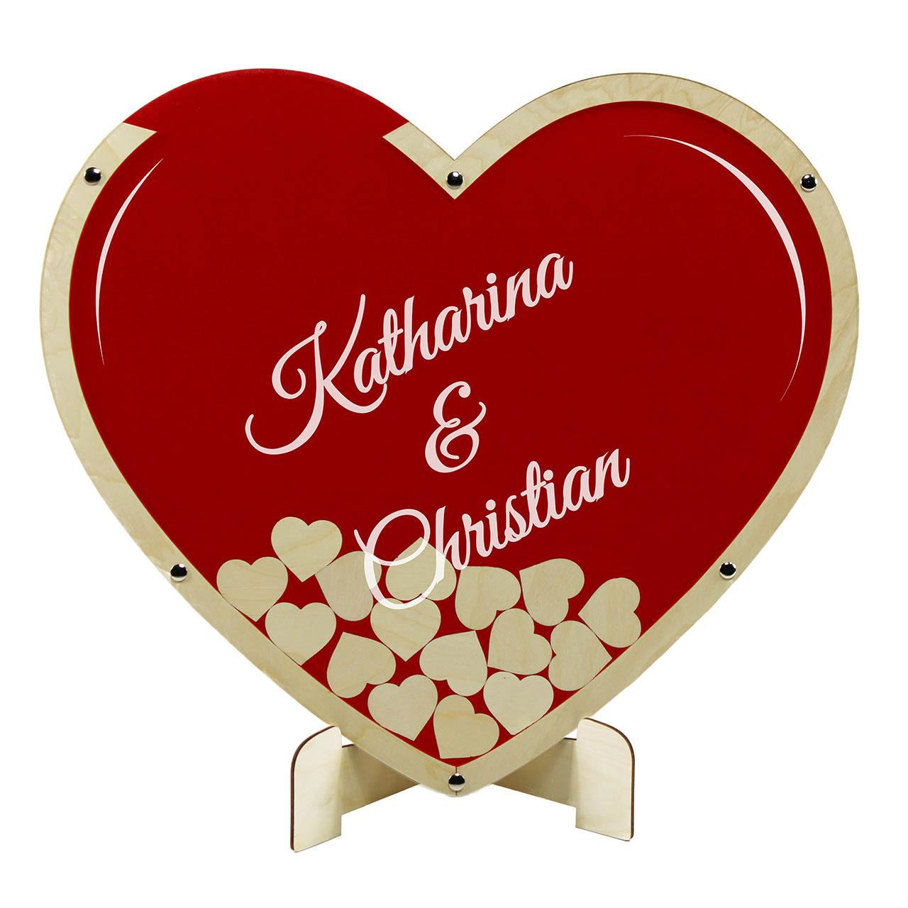 """Hochzeitsgästebuch """"Big Love"""" - Personalisiert"""