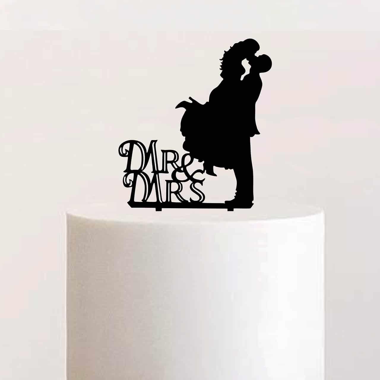 """Cake Topper """"Mr & Mrs Kuss"""""""
