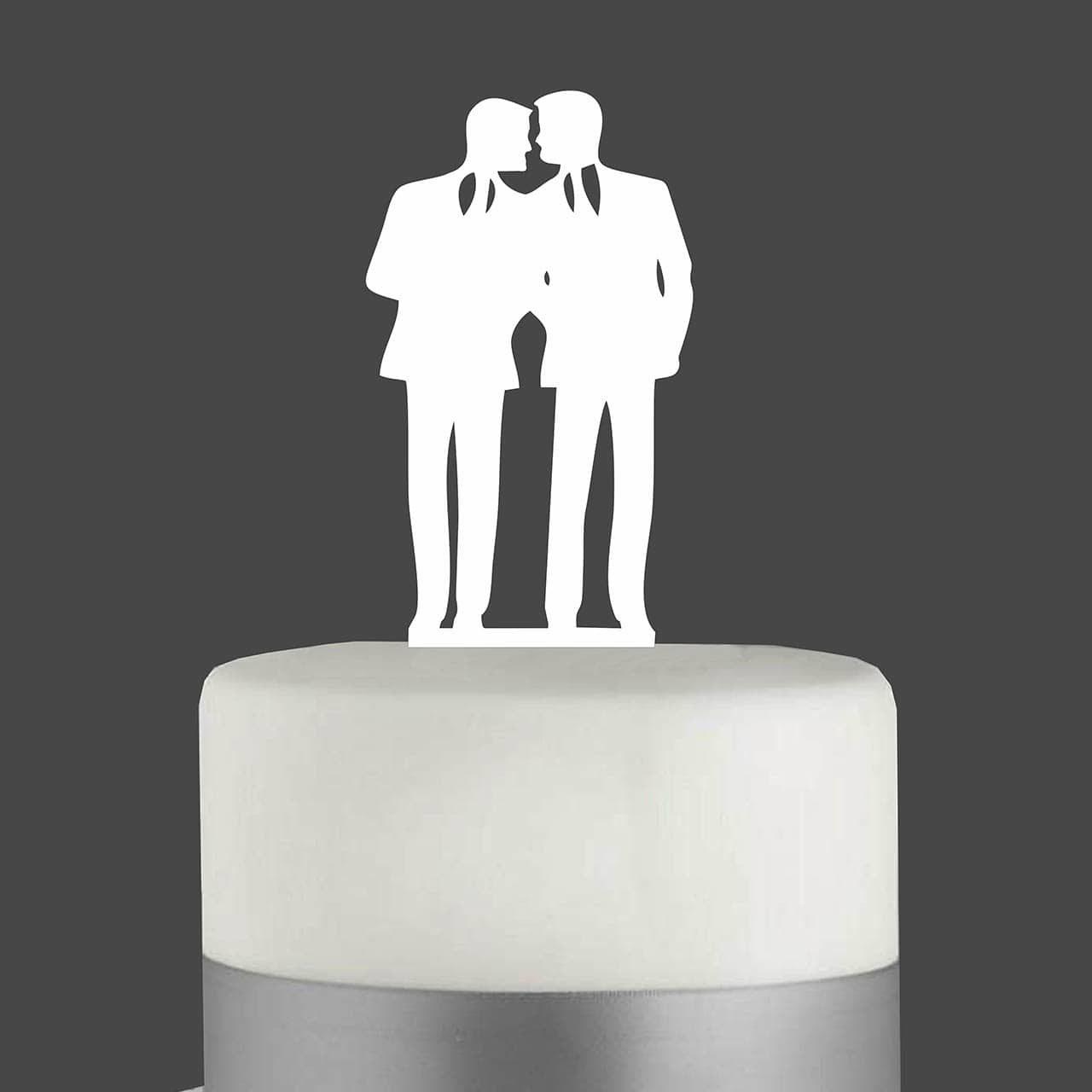 "Cake Topper ""Mann mit Mann"""