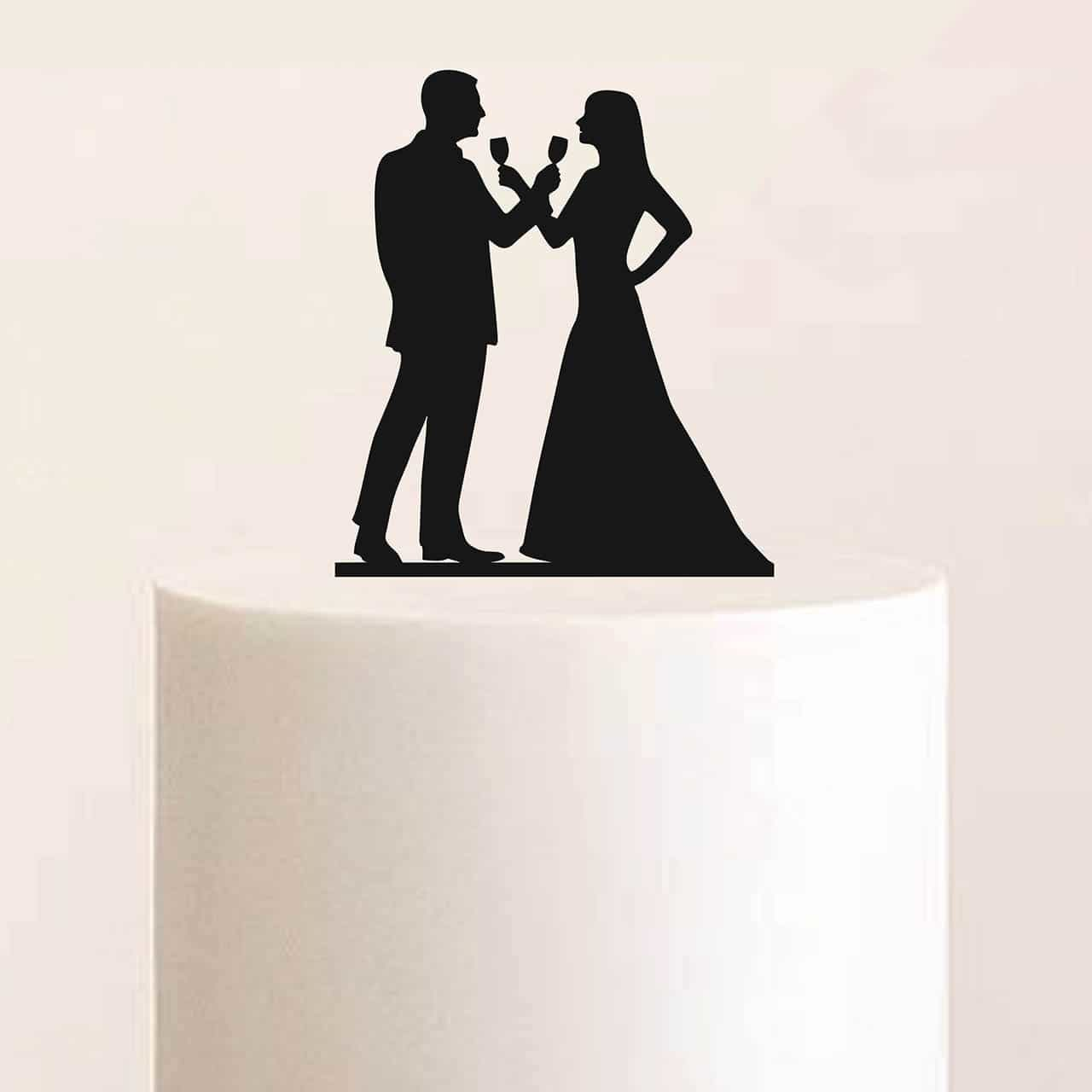 "Cake Topper ""Cheers"""