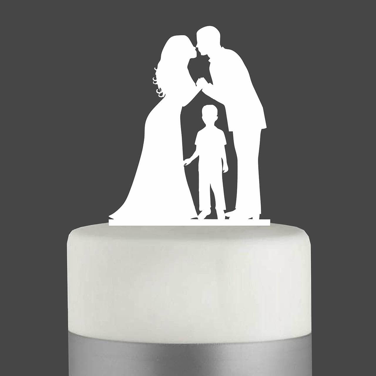 """Cake Topper """"Ehepaar mit Junge"""""""