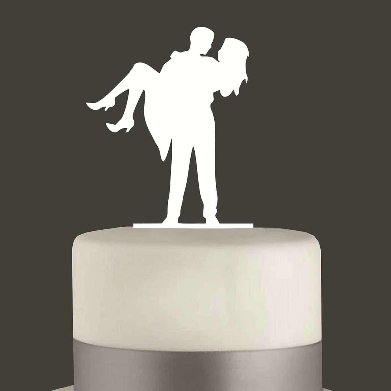 "Cake Topper ""Mann trägt Frau"""