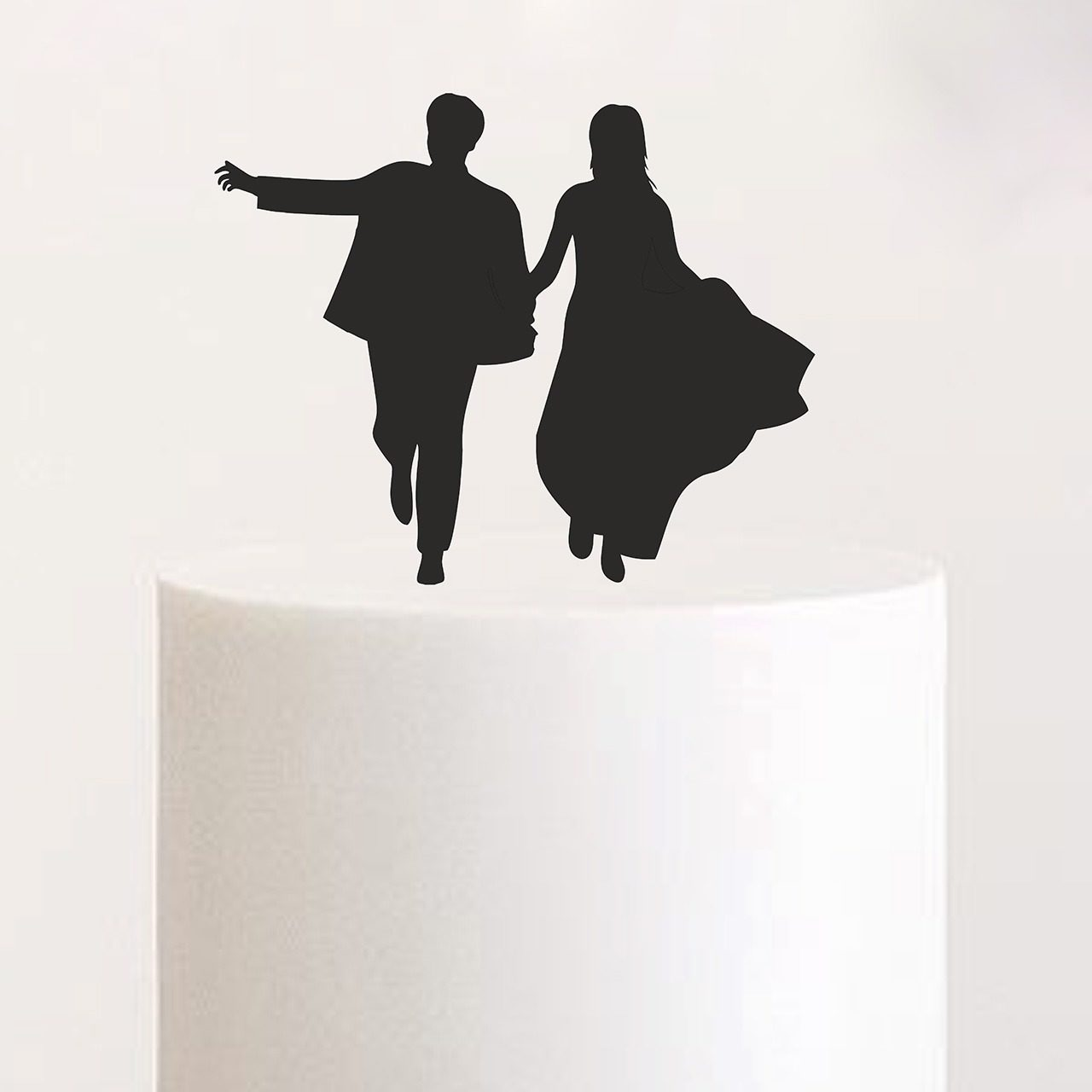 "Cake Topper ""Laufendes Paar"""