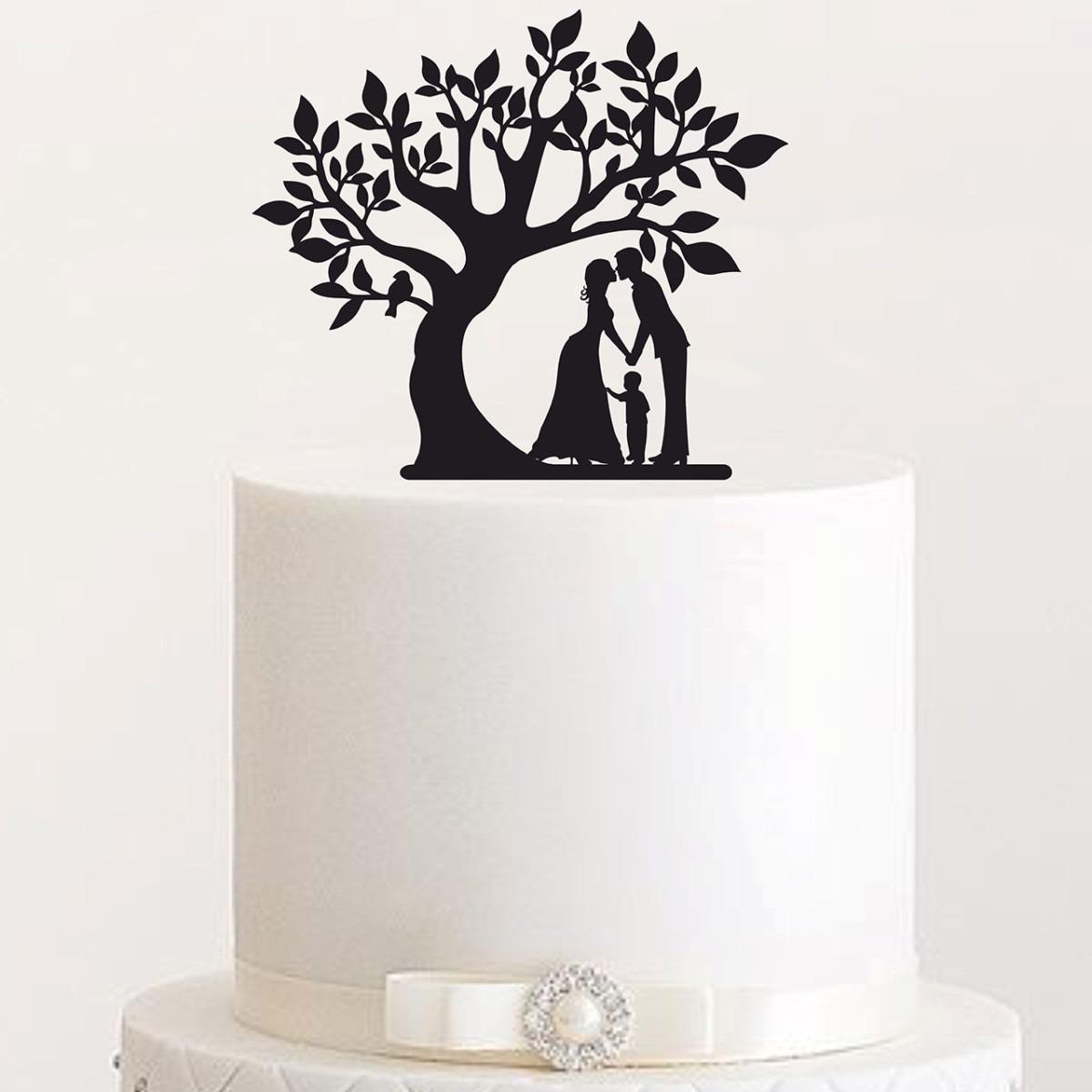 """Cake Topper """"Eskimokuss und Junge am Baum"""""""