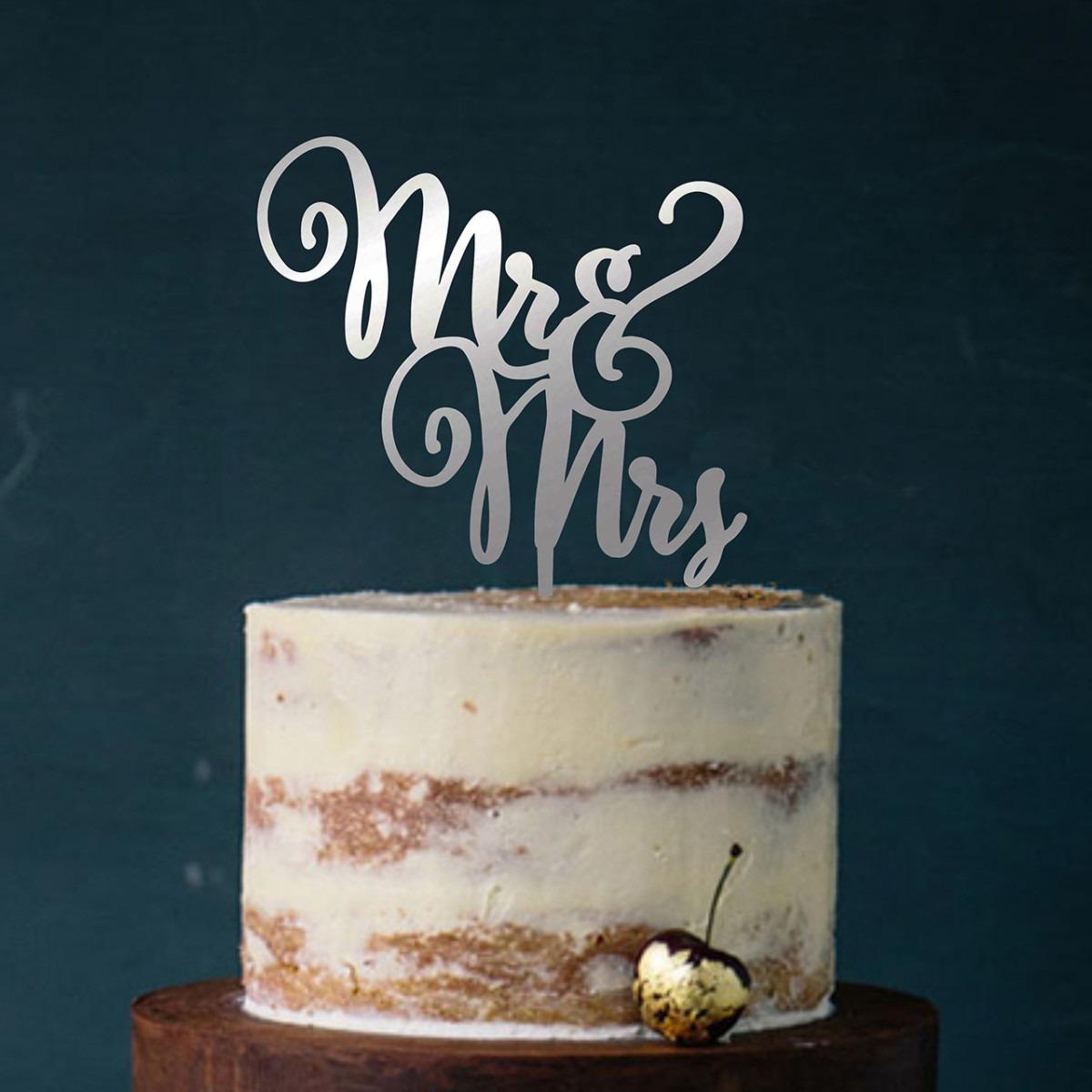 """Cake Topper """"Mr & Mrs geschwungen"""""""
