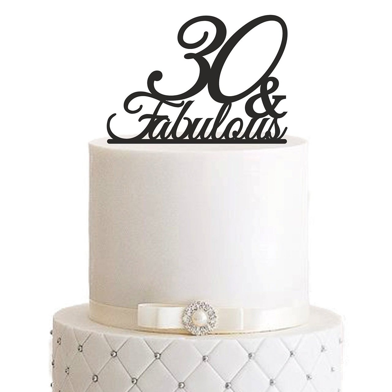"Cake Topper ""Fabulous"" – Personalisiert"