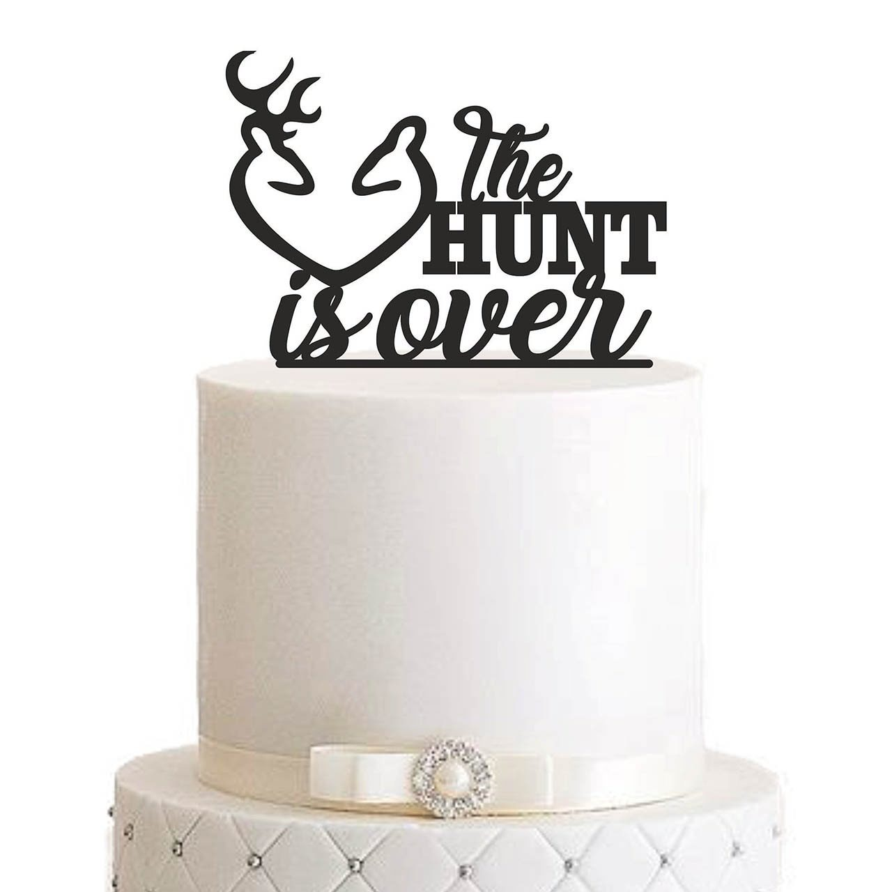 """Cake Topper """"The hunt is over"""""""