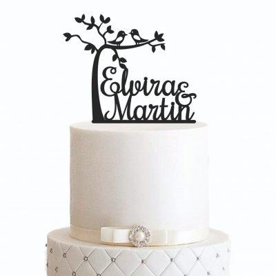 """Cake Topper """"Baum mit Vornamen"""" – Personalisiert"""