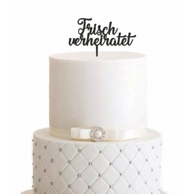 Cake Topper Frisch verheiratet