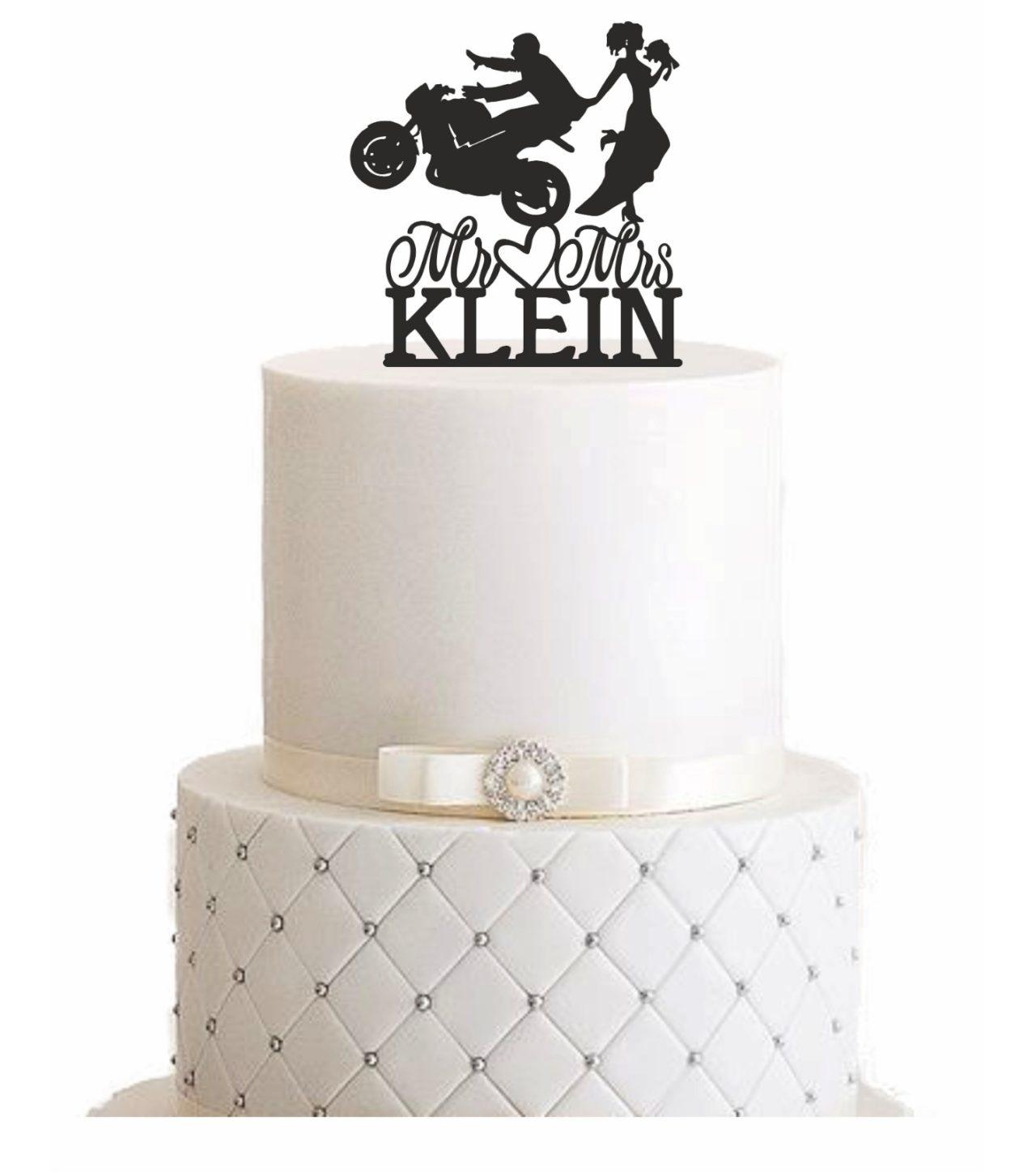 Cake Topper Motorrad Personalisiert