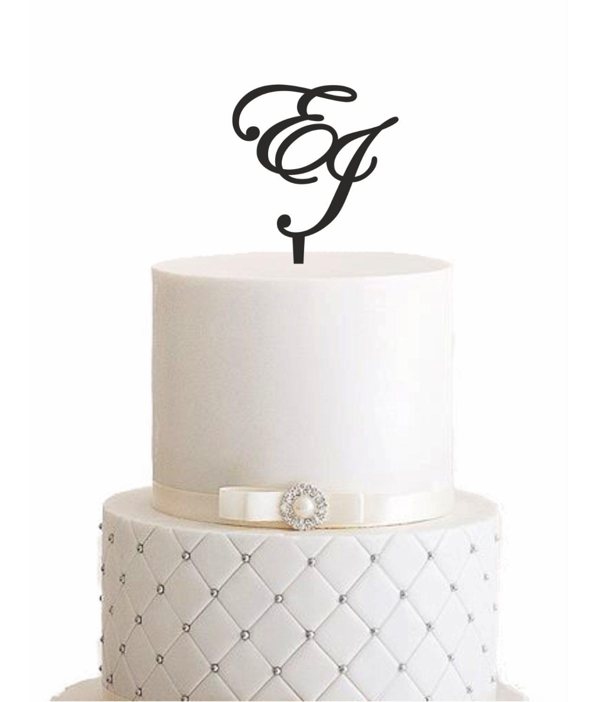 "Cake Topper ""Initialen"" – Personalisiert"