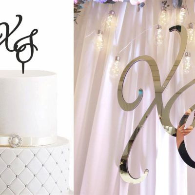 "SET - Cake Topper ""Grand"" & Initialen ""Grand"""