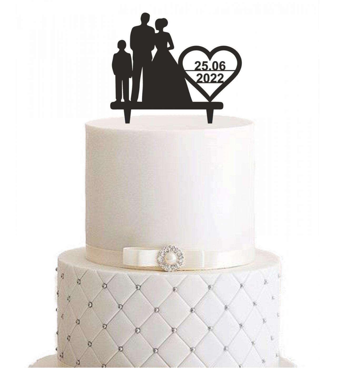 "Cake Topper ""Familie & Datum"" – Personalisiert"