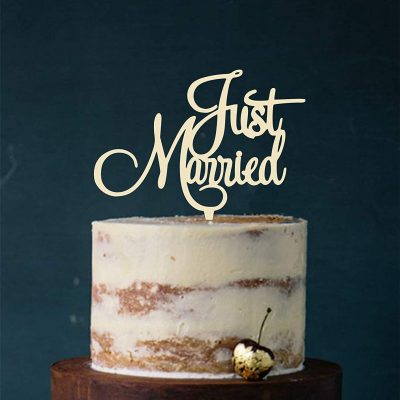 """Cake Topper """"JUST MARRIED"""""""