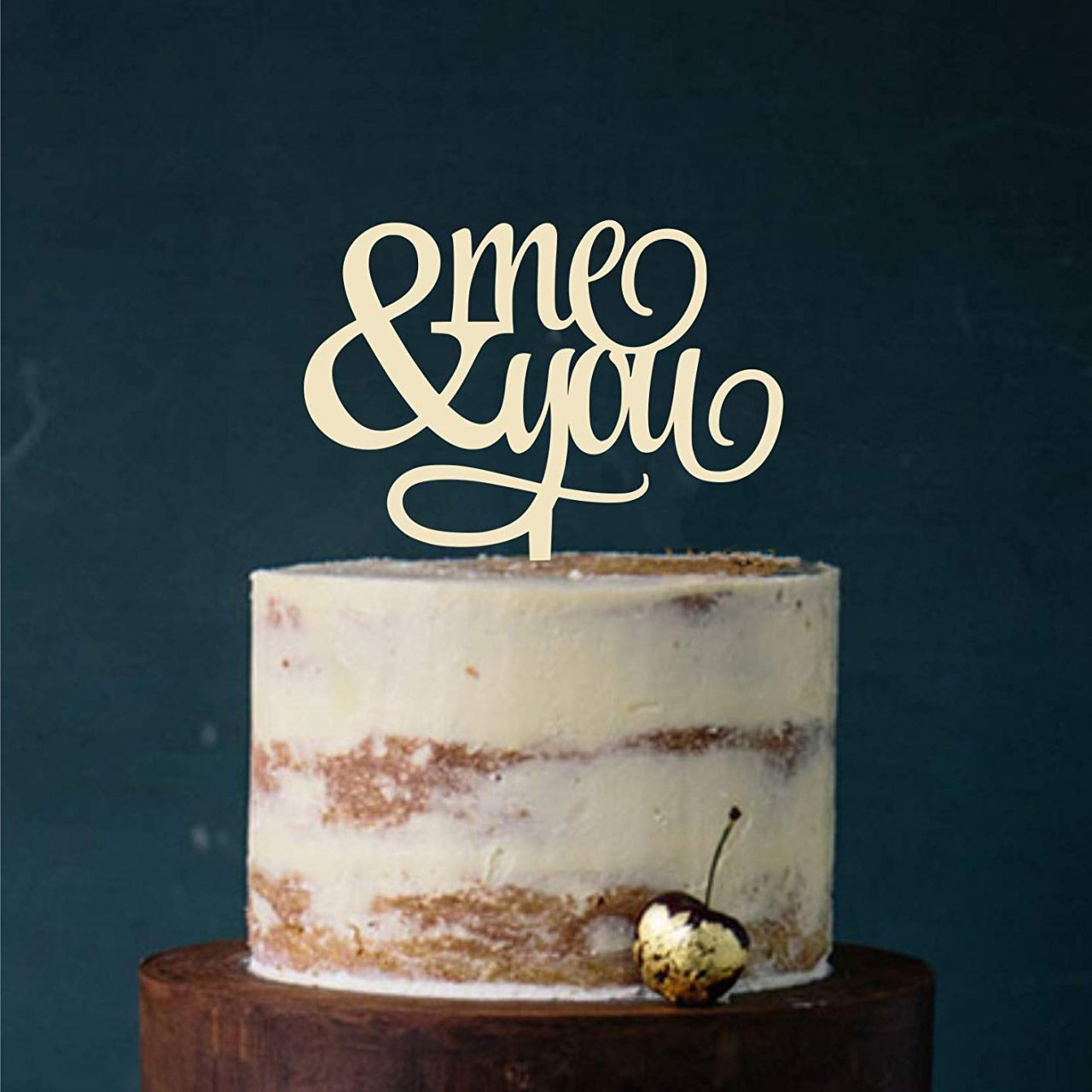 "Cake Topper ""me & you"""