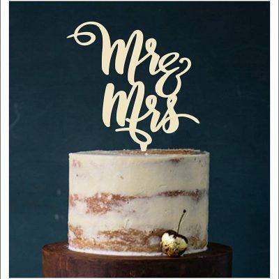 """Cake Topper """"Mr. & Mrs."""""""