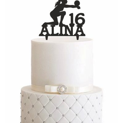 "Cake Topper ""Volleyball"" – Personalisiert"