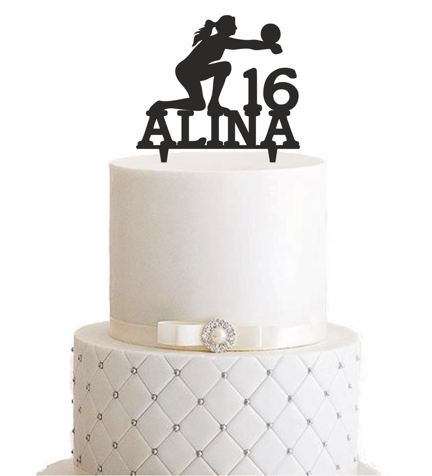 Amazing Cake Topper Volleyball Personalisiert Manschin Laserdesign Personalised Birthday Cards Arneslily Jamesorg