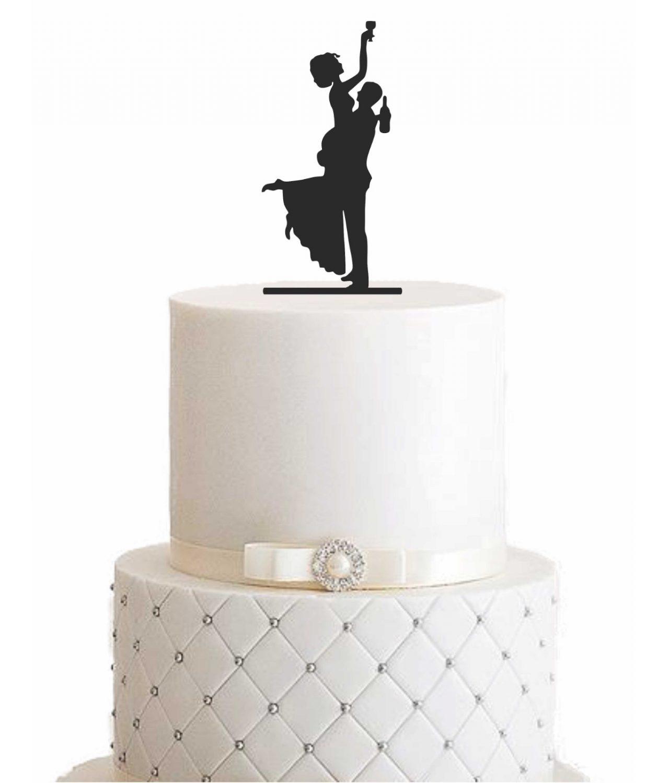 "Cake Topper ""Ehepaar beim Feiern"""