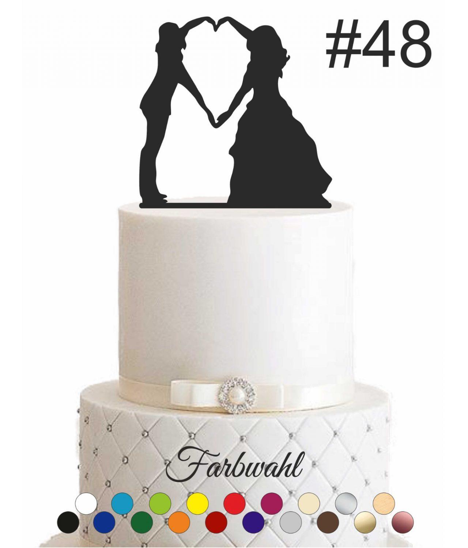 "Cake Topper ""Ehepaar mit Herz"""