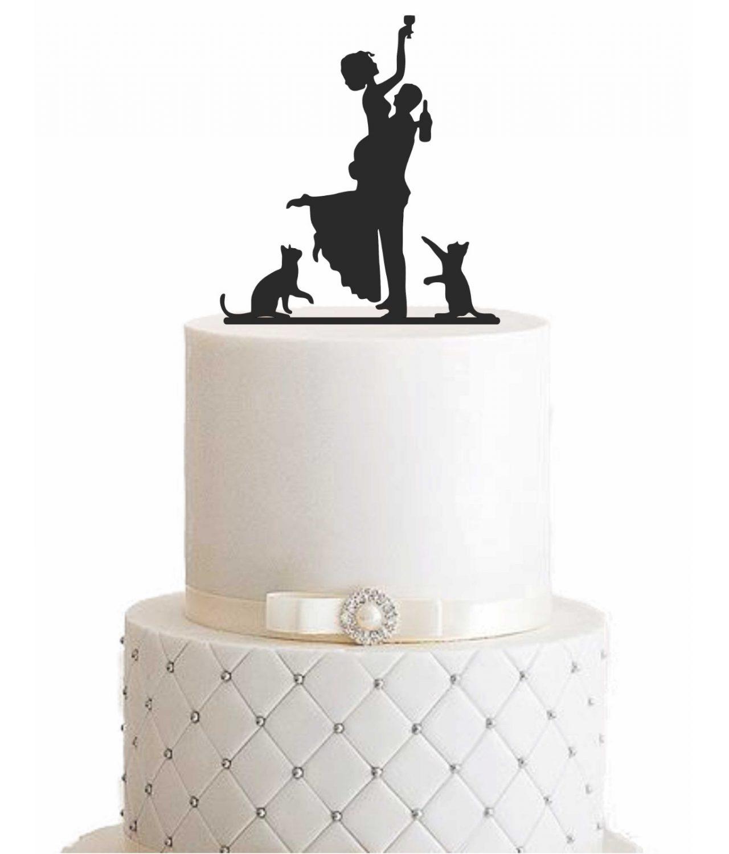 """Cake Topper """"Ehepaar mit Katzen"""""""