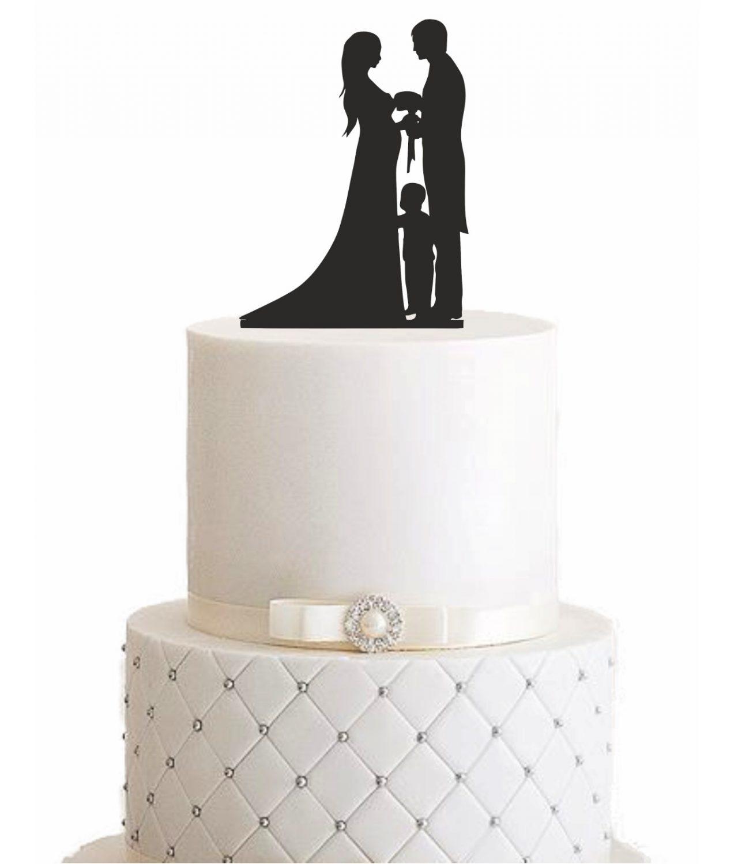 """Cake Topper """"Ehepaar mit Kind"""""""