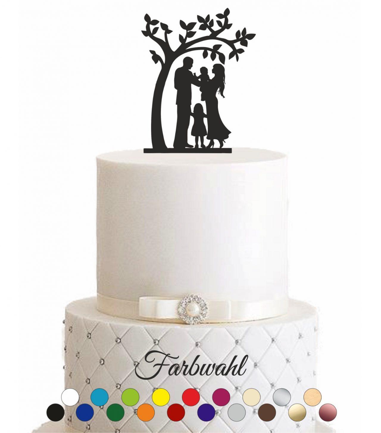 """Cake Topper """"Familie unter einem Baum"""""""
