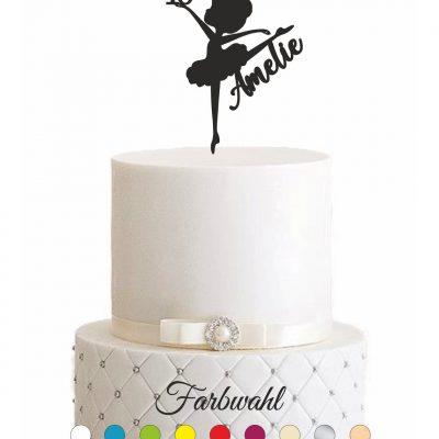 """Cake Topper """"Ballerina mit Vorname & Alter"""" – Personalisiert"""