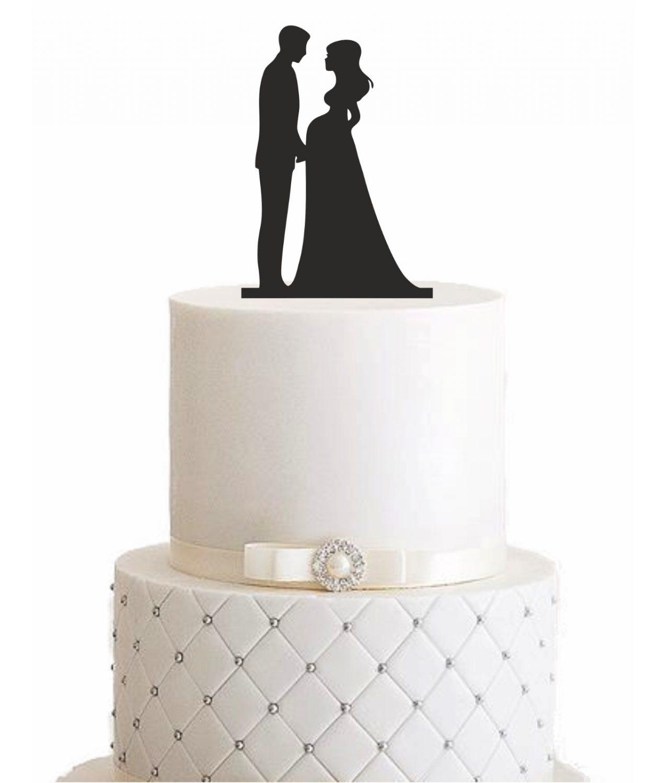 "Cake Topper ""Schwangere Ehefrau"""