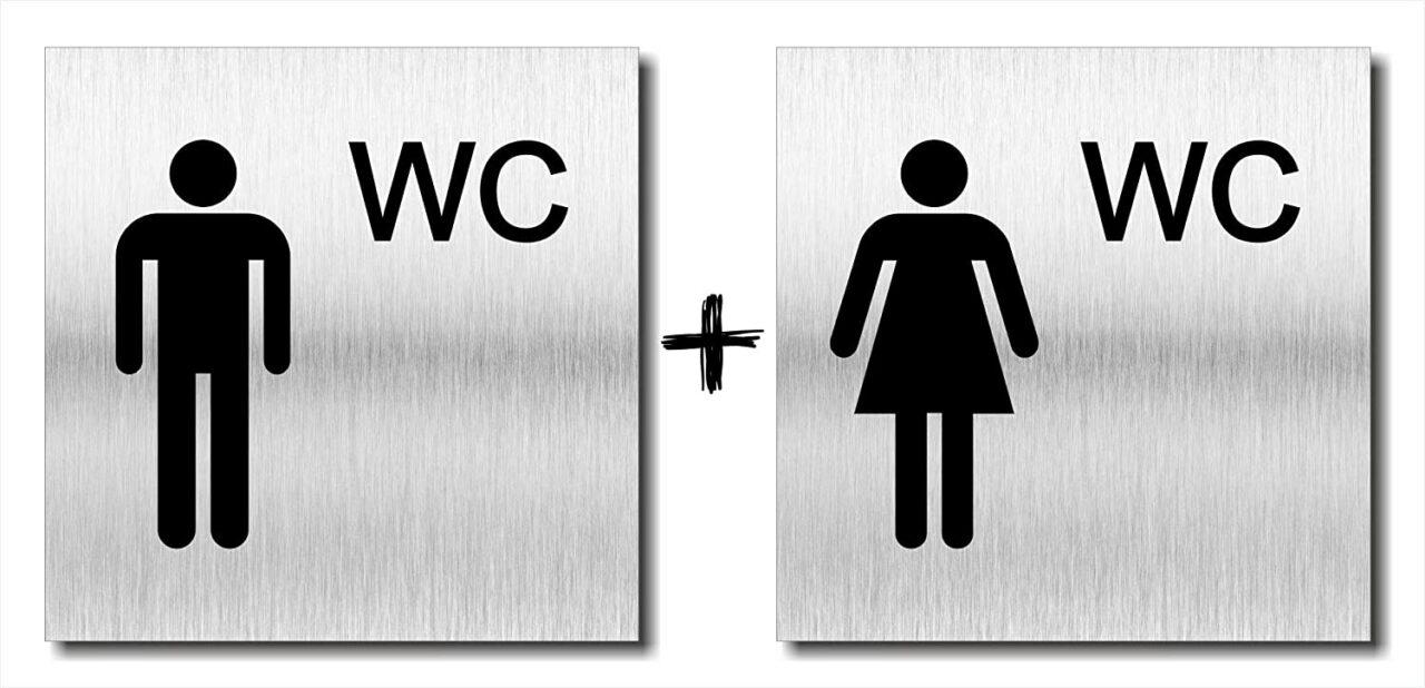 """Türschild """"Damen und Herren WC"""""""