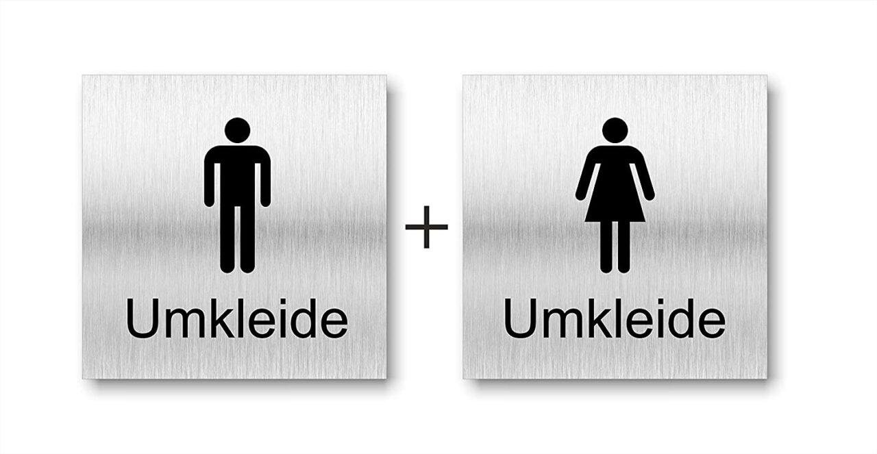 """Türschilder """"Damen- und Herrenumkleide"""""""