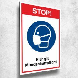 STOP! Hier gilt Mundschutzpflicht!
