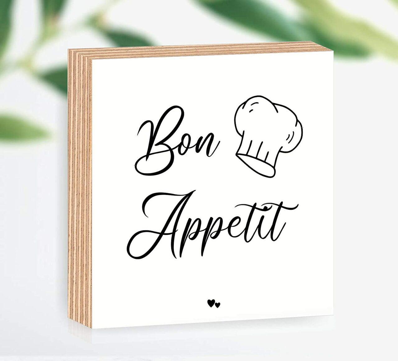 """Holzbild """"Bon Appetit"""""""