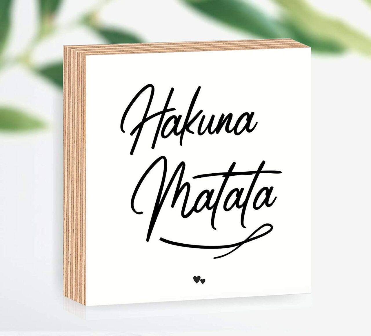 "Holzbild ""Hakuna Matata"""