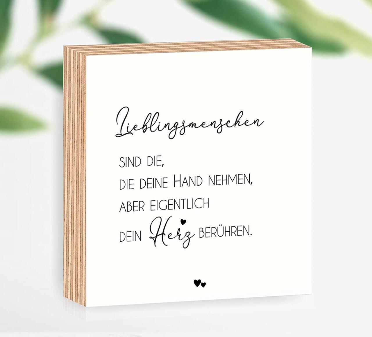 """Holzbild """"Lieblingsmenschen"""""""